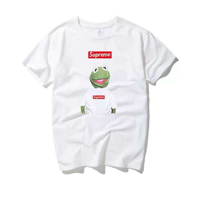 ce815f3d75e1 Supreme X Kermit The Frog Tee, Men's Fashion, Clothes on Carousell
