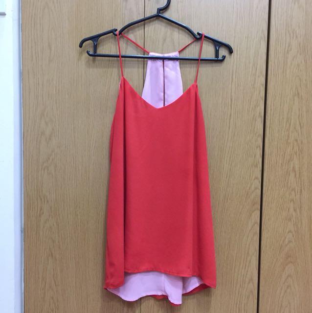 Surplus Orange & Pink Reversible Sleeveless Top