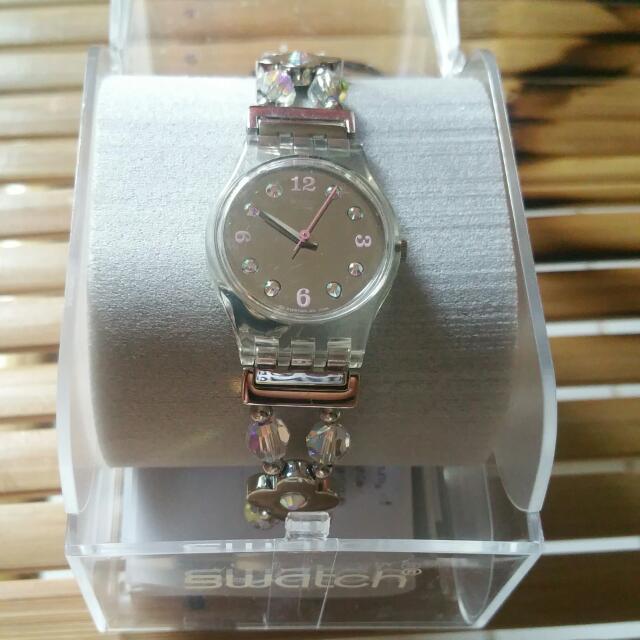 Swatch Silver Beaded Bracelet