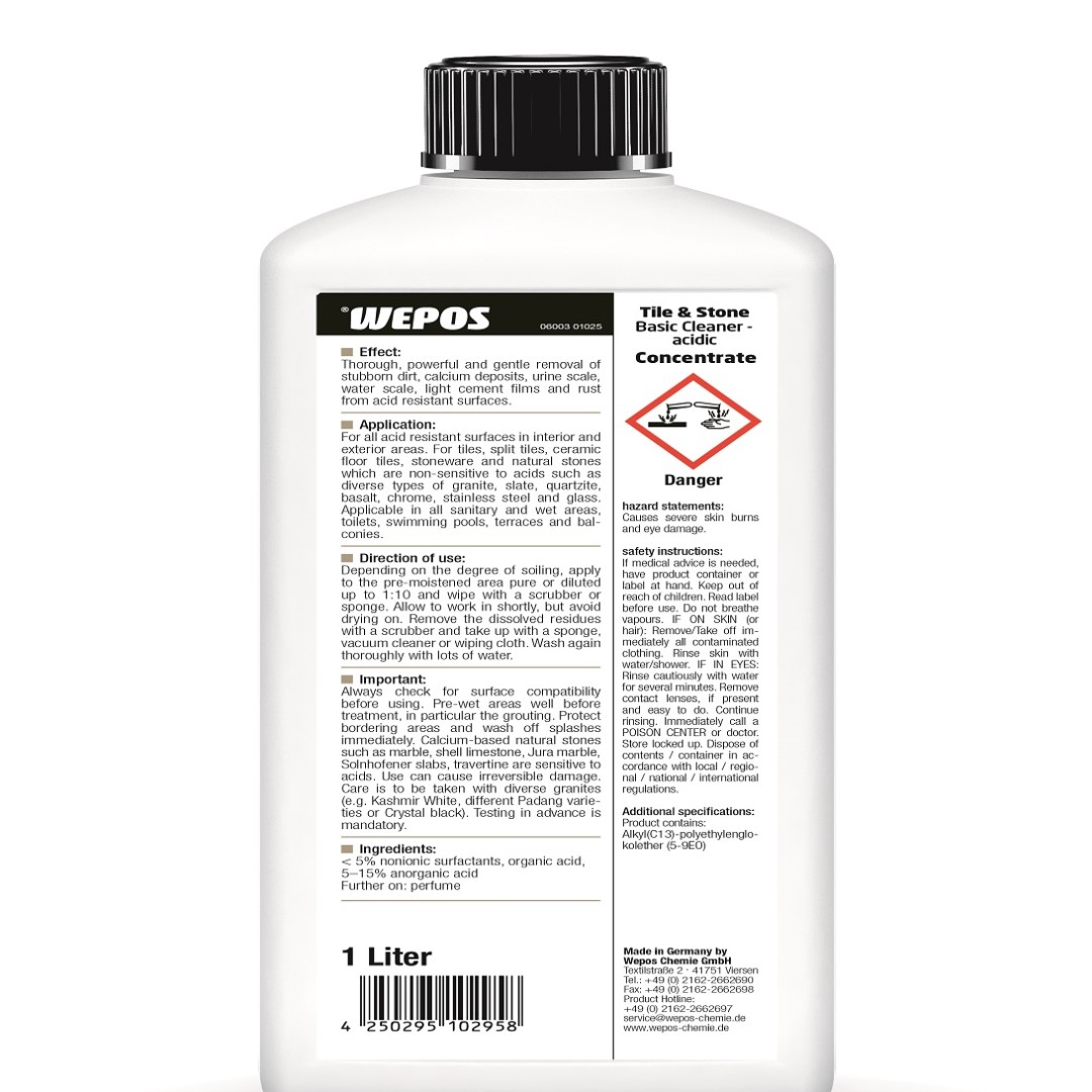 Tile & Stone Basic Cleaner Acidic