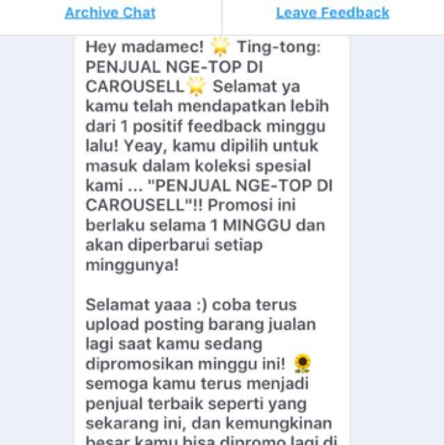 Ting..Tong...Carousell 😘🙏🏻💕💕