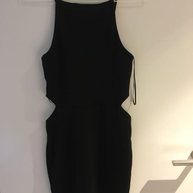 Top Shop High Neck Dress with side splits