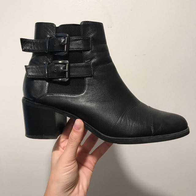 US size 7.5/Europe 38 Jeanne Beker genuine leather booties