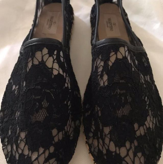 Valentino Espadrille Flats size 41 womens