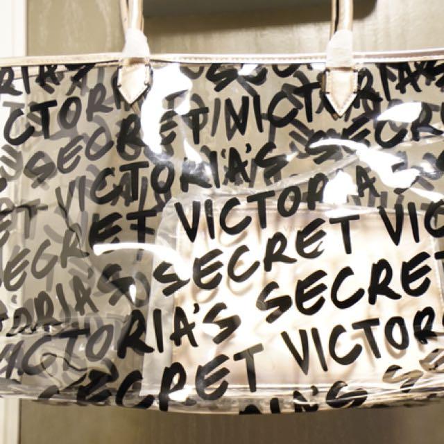 Victoria secret tote with pouch