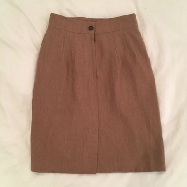 Vintage Tweed High Waisted Skirt size 26 waist