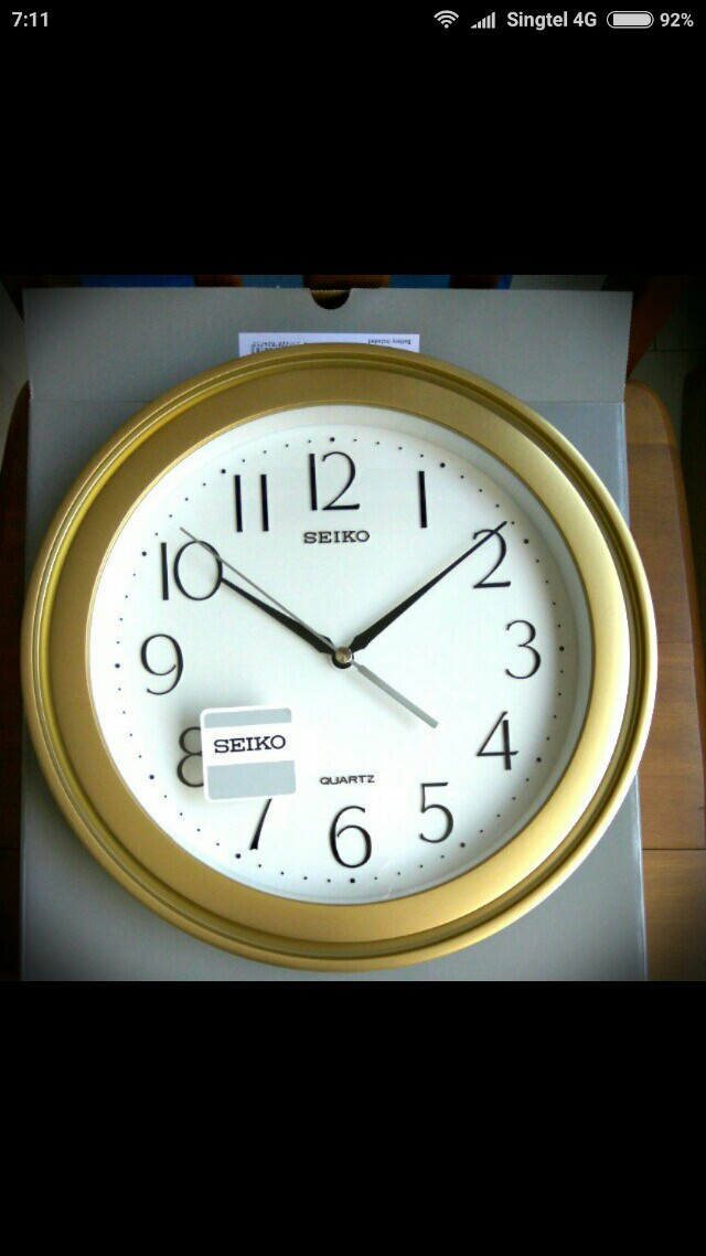 Wall Clock Seiko.