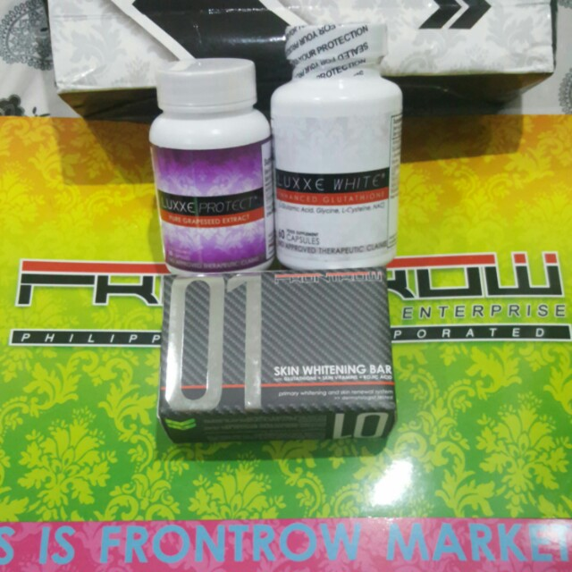 Whitening Set Frontrow Luxxe white and Luxxe Protect and 01 soap