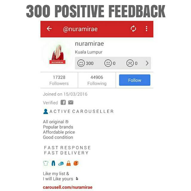 Yeay ! 300 Positive Feedback💥