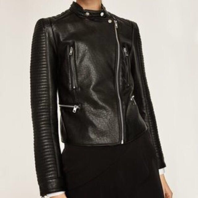 zara jaket kulit original size xs