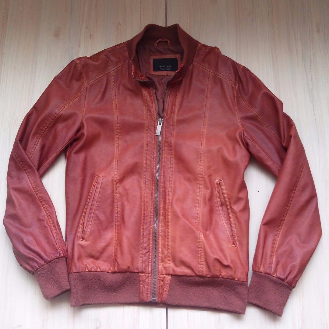 Zara Man 騎士 皮衣 夾克 外套 M號