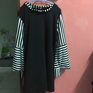 Stripes Bell Sleeves Blouse