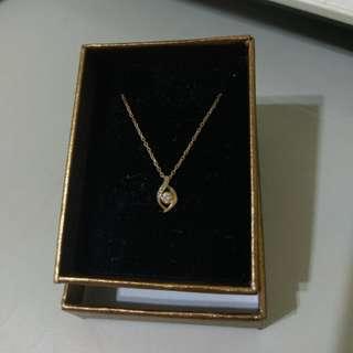 festaria 日本輕珠寶 K金鑽石項鍊