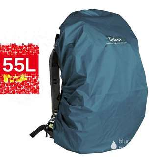 COVER • Rain /Dust for backpacks for 55L medium and large size backpack • waterproof • Durable fabric • Blue Grey