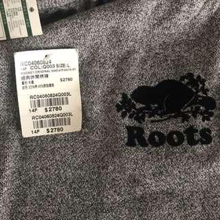 Roots灰長褲L(屁股有字款)