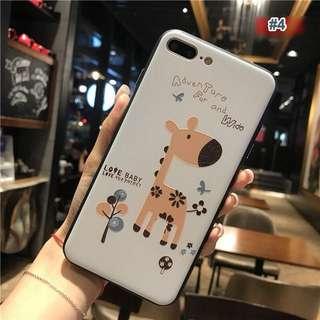Giraffe Embossed Soft Rubber Case for iPhone 6+, 6s+, 7, 7+