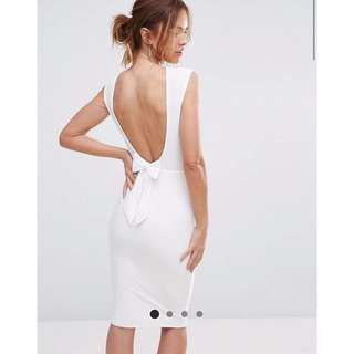 (UK10) BNWT Club L Bow Back Midi Dress