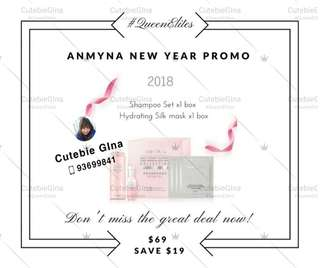 Anmyna Shampoo + hair essence set  + hydrating silk mask