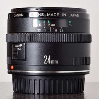 (USED) CANON EF 24MM F/2.8 LENS FOR FULL FRAME DSLR CAMERA