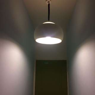 🚚 〔德國早期塑料吊燈〕餐燈 經典燈具 老件 太空年代 書房 餐廳 復古 mod 70 vintage space