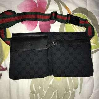 *REPRICED Gucci Monogram Belt Bag (broken buckle)