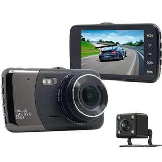 (平價前後CAM) 全高清 1080P 行車記錄儀 雙鏡頭 前後鏡頭 車CAM 超強夜視功能 全高清 3.7吋特大顯示屏