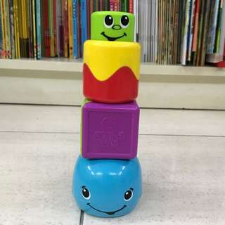 Fisher-Price Stack 'n Surprise Blocks Peek-a-Boo Whale