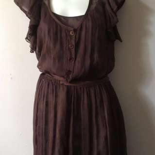 Robert Rodriguez Chocolate Brown Tunic (Size 6)