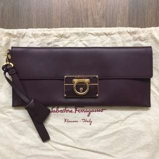 Authentic Salvatore ferragamo clutch