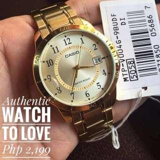 Casio Vintage Gold Watch