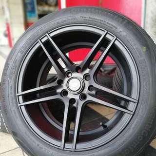 Vossen cv5 15 inch sports rim vios tyre 70%