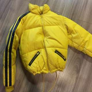 Yellow vintage down bubble jacket