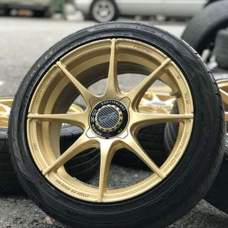 Oz racing hlt 16 inch sports rim alza tyre 95%