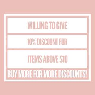 Discounts :)