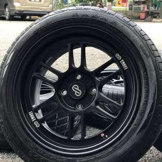 Enkei rpf1 thailand 15 inch tyre 75% sports rim wira