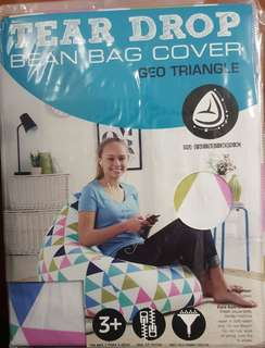 Living Space Geo Triangle Cotton Bean Bag Cover