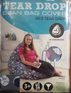 Living Space Geo Tear Drop Cotton Bean Bag Cover