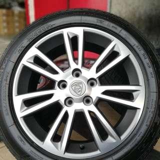 Original suprima s 17 inch sports rim tyre 70%