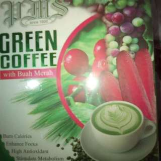 Green coffee with Buah Merah