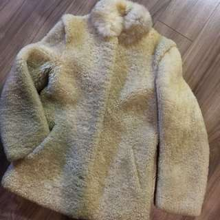 SHEARLING JACKET WITH FUR TRIM