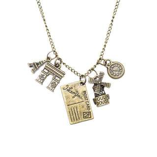 REPRICED! Paris Travel Charm Necklace