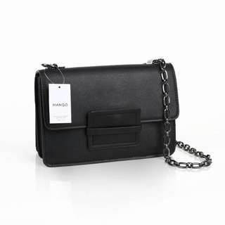 Mango Sling Bag Original 25 Cm Full Black