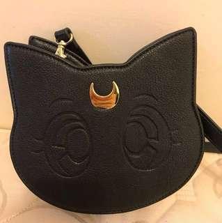 日本GU獨賣美少女戰士,25週年紀念限量商品,露娜貓咪包#有超取最好買