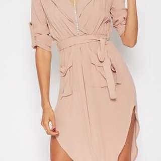 Dusty Pink Shirt Dress Size 12