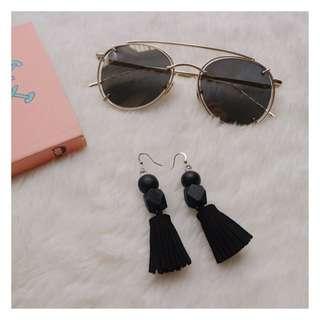Starry Eyed Mirror Sunglasses & Bombey Earrings