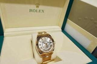 Rolex sky-dweller18k yellow gold