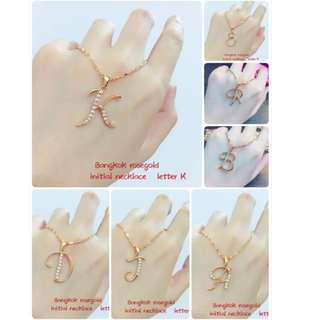 ❤️ bangkok rose gold initial necklace ❤️