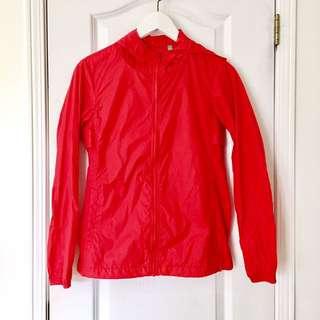 Uniqlo Bright Red Rain Jacket