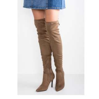 OTK Tan Suede Boots 7.5