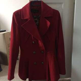 Black Rrivet red coat size Small